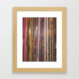 vinyl stripes Framed Art Print