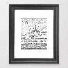 It's coming Framed Art Print