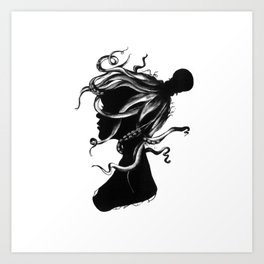 Squindy Silhouette Art Print