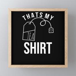 tea shirt Framed Mini Art Print