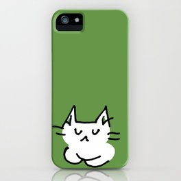 emo cat color #2 - calm iPhone Case