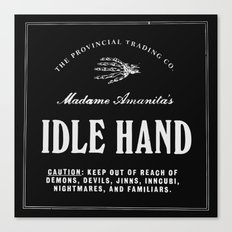 Idle Hand Canvas Print