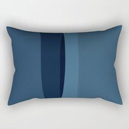Modern Blue, Blue Painting, Blue Ombre Rectangular Pillow