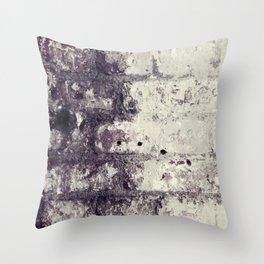 Ultra Violet Brick Wall Throw Pillow