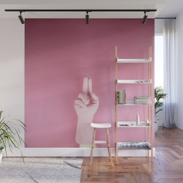 Mighty pink glove Wall Mural