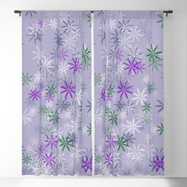 Lavander glow flower power Blackout Curtain