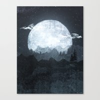moonrise Canvas Prints featuring Moonrise by Tracie Andrews