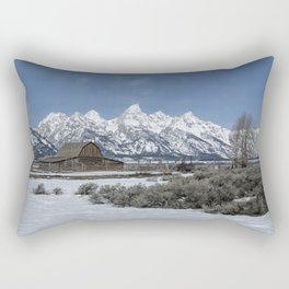 John Moulton Barn and the Grand Tetons Rectangular Pillow