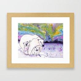 Polar Bear Mommy Framed Art Print
