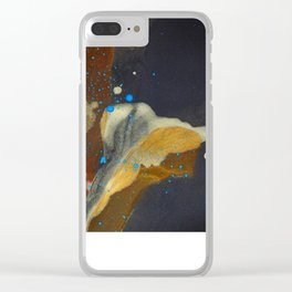 joelarmstrong_rust&gold_flower Clear iPhone Case