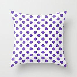 Purple flowers on white Throw Pillow