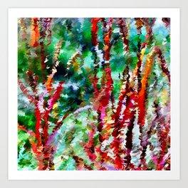Autumn Grasses Abstract Art Print