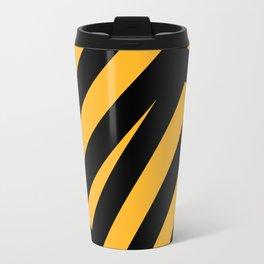 Black and yellow abstract striped Travel Mug