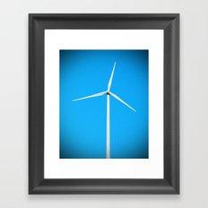Wind turbine Framed Art Print