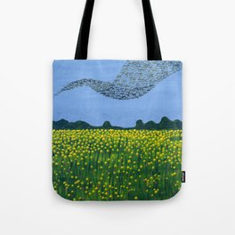 The Meadow and the Swarm Tote Bag