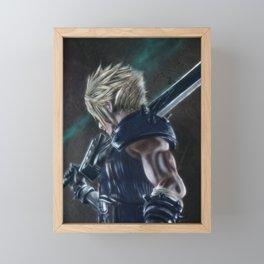 Cloud Strife FFVII Remake Framed Mini Art Print