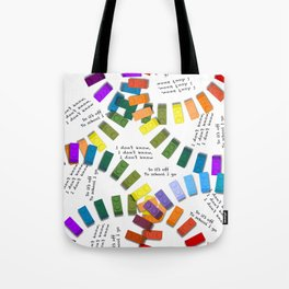Off to school I go - with my colorful building blocks Tote Bag
