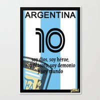 argentina Canvas Prints featuring argentina by John Sideris