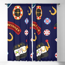 casino pattern Blackout Curtain