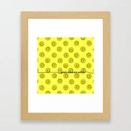 PMO Yellow Happiness Framed Art Print