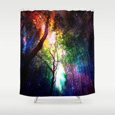 rainbow rain Shower Curtain
