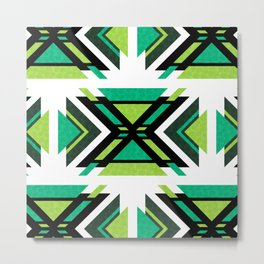 Aztec Forest (geometric pattern) Metal Print