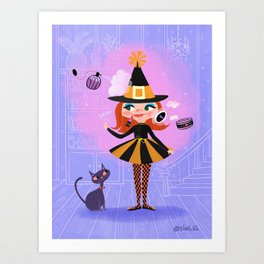 Lilly Witch Art Print