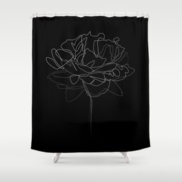 """""""Botanical Collection"""" - Peonies Flower Shower Curtain"""