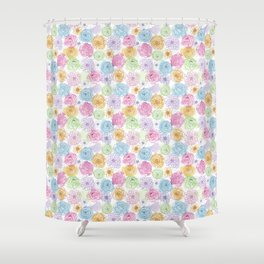watercolor & lines Shower Curtain