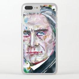 FRANZ LISTZ - watercolor portrait.1 Clear iPhone Case
