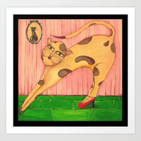 Cat in shoes Art Print
