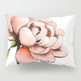 Coral Pink Peony Pillow Sham