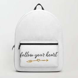 Follow Your Heart Arrow with Heart Backpack