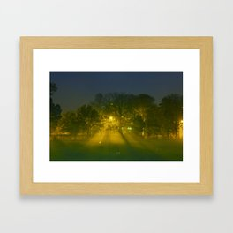 Foggy Night Framed Art Print