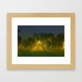 Foggy Night Framed Art Print