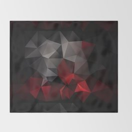 Polygon red black triangles . Throw Blanket