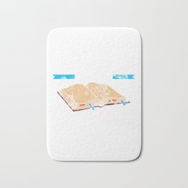 Funny Bookmarks Are For Quitters Reader Distressed Bath Mat