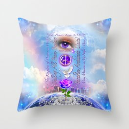 The Kingdom of Heaven is Within Throw Pillow