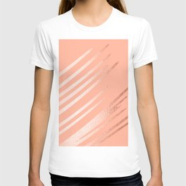 Sweet Life Swipes Peach Coral Shimmer T-shirt