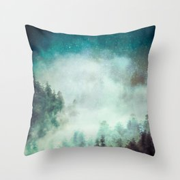 Galaxy Forest Throw Pillow