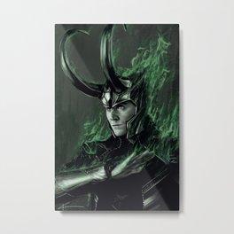 Green Fire Metal Print