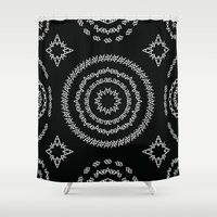 helvetica Shower Curtains featuring Typographic Pattern – A (Helvetica) by janna barrett