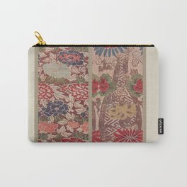 Verneuil - Japanese paper and fabric designs (1913) - 16: Chrysanthemums & Peonies Carry-All Pouch