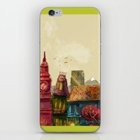cities iPhone & iPod Skins featuring Cities by Elisa Gandolfo