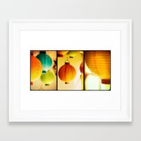 lanterns Framed Art Prints featuring Lanterns by Jesse J. McClear