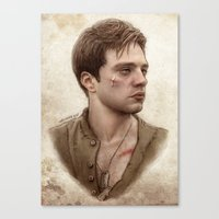 bucky Canvas Prints featuring Bucky Barnes by maichan