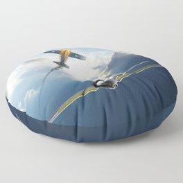 Reisen (Zero Fighter) flown by sub-Lt. Saburo Sakai Floor Pillow