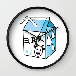 Kawaii Milk Carton Wall Clock