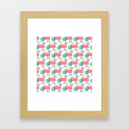 Summer Bicycles Framed Art Print