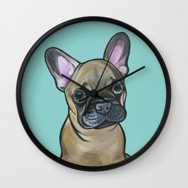 Armand the Frenchie Pup Wall Clock